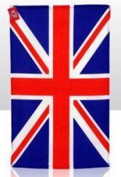 Tea Towel Union Jack with hanger 12 pk