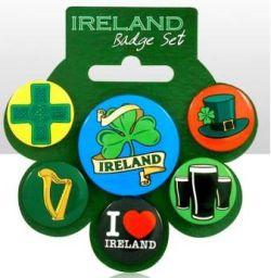 Ireland set of 6 Pin Badges (12 x 6)