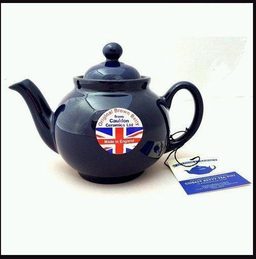 Brown Betty Teapot - Cobalt Blue - 2 Cup