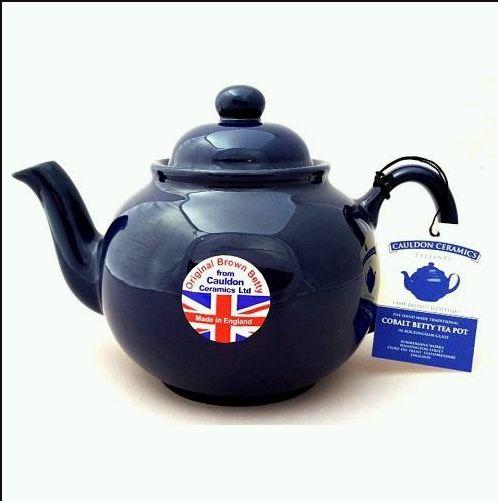 Brown Betty Teapot - Cobalt Blue - 6 Cup