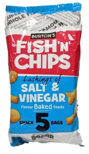 Burtons Fish n Chips Salt & Vinegar 18 x 5 x 25g