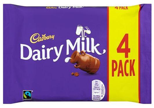 Cadbury Dairy Milk Regular 14 x 4pk x 32.5g
