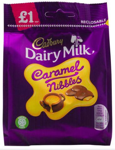 Cadbury Caramel Nibbles Pouch 10 x 95g