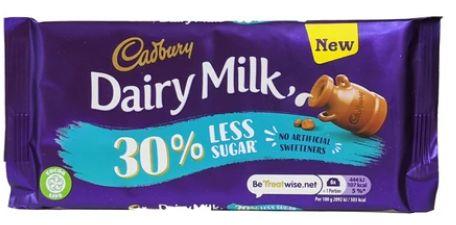 Cadbury Dairy Milk 30% Less Sugar 18 x 85g