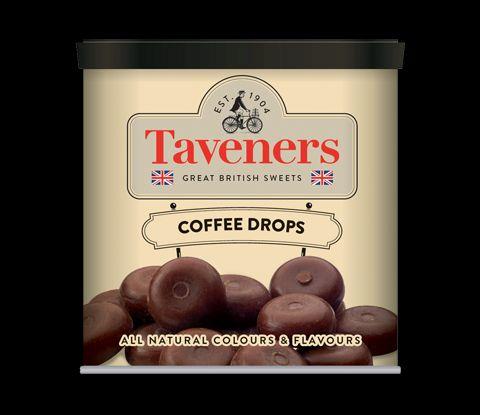 Taveners Tins Coffee Drops 12 x 200g