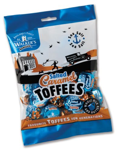 Walkers-NonSuch Bags Salted Caramel Toffee 12 x 150g