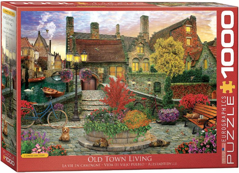 Puzzles - Old Town Living 1000pcs