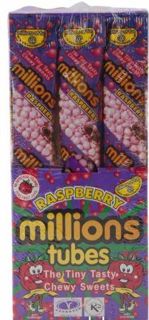 Millions Tubes Raspberry 12 x 65g