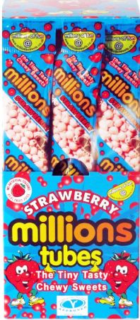 Millions Tubes Strawberry 12 x 65g