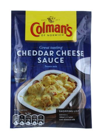 Colmans Sachets Cheddar Cheese Sauce 12 x 40g