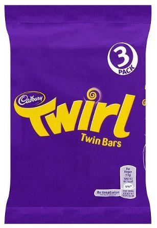 Cadbury Twirl 5pk 20 x 5pk x 107.5g