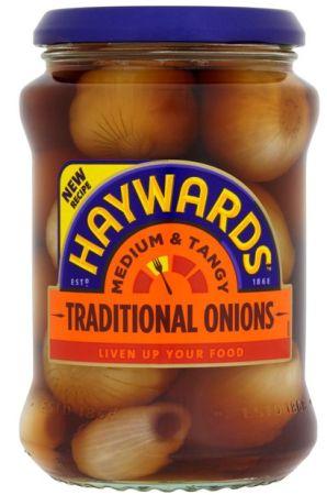 Haywards Traditional Medium & Tangy Onions 6 x 400g