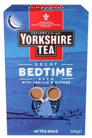 Taylors Yorkshire Tea Decaf Bedtime Brew 4 x 125g x 40 bags