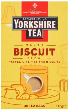 Taylors Yorkshire Tea Biscuit Brew 4 x 112g x 40 bags
