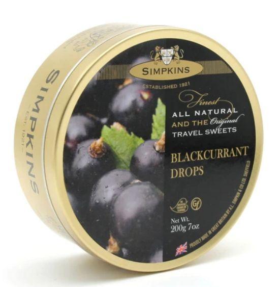 Simpkins Blackcurrant Tin 6 x 200g