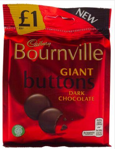Cadbury Bournville Dark Giant Buttons Pouch