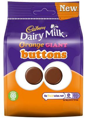 Cadbury Dairy Orange Giant Buttons Pouch 10 x 95g