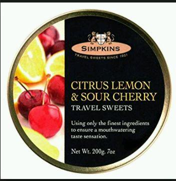 Simpkins Citrus Lemon & Sour Cherry Travel Sweets