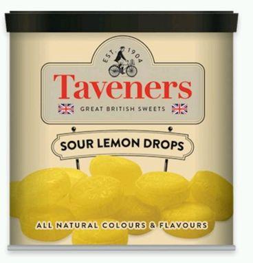Taveners Tin Sour Lemon Drops 12 x 200g