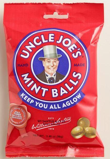 Uncle Joes Mint Balls Bag 12 x 90g