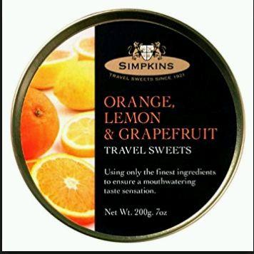 Simpkins Orange, Lemon & Grapefruit Travel Sweets