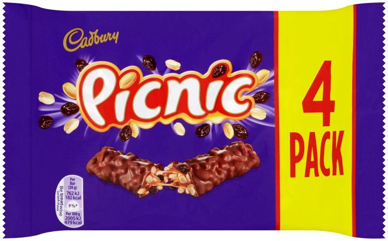 Cadbury Picnic 4pk 10 x 154g