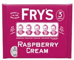 Frys Raspberry Cream 18 x 3pk x 147g
