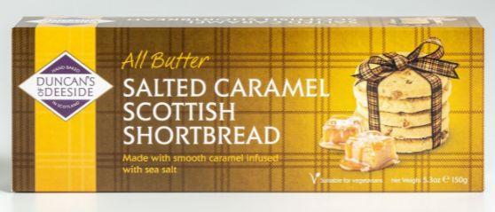 Duncans Shortbread - All Butter Salted Caramel 12 x 150g
