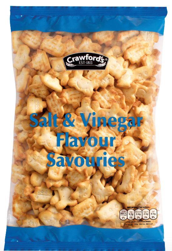 Crawfords Salt & Vinegar Savouries 8 x 250g