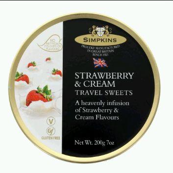 Simpkins Strawberry & Cream Travel Sweets