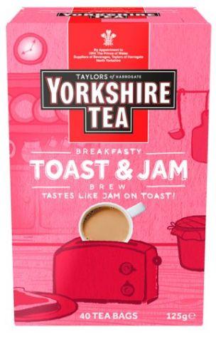 Taylors Yorkshire Tea Toast & Jam 4 x 125g x 40 bags