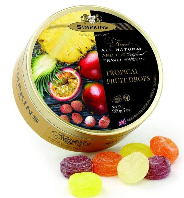 Simpkins Tropical Fruit Tin 6 x 200g