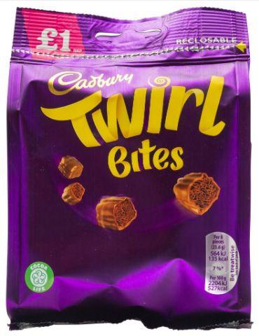 Cadbury Twirl Bites Pouch