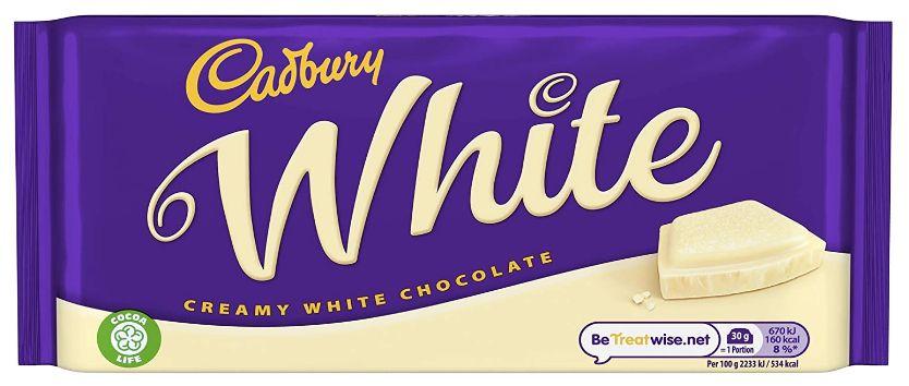 Cadbury Creamy White Chocolate Bar 24 x 90g