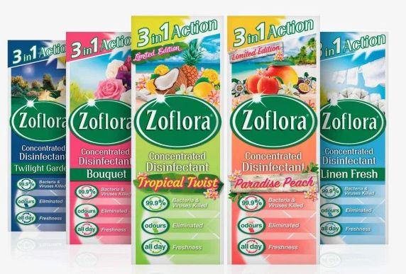 Zoflora Antibacterial Disinfectant Assortment 3 in 1